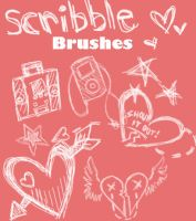 Scribble-y Brushes by just-a-girl344