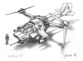 DH-3B Medium Gunship by JanBoruta