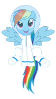 Rainbow Dashtronaut by DoodleWizard
