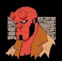 Hellboy- animated- with colour by Davinder
