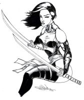 Psylocke Pencils and Inks by Dingodile24