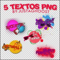 5 TEXTOS PNG by justaghoost