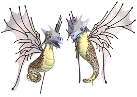Fantasy Fairy Dragon 03 PNG Stock by Roys-Art