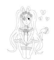 Line Art Ciel Phantomhive Bunny Boy by Bloody-Prison-Rose