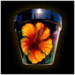 airbrushed flower pot by hardart-kustoms