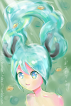 Miku (One-layer-paint) by kazumitakashi