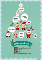 Christmas party poster by Harumi0