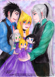 ZxCxS - Miss Cloudia and her the gentlemen by MarieyeohKH24