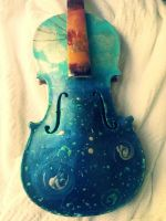 Skyscape Violin by GoddessDivine0512