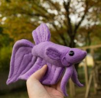 Purple Veil Tail Betta Plush by BeeZee-Art