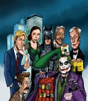 Dark Knight Cast Illustration by hcnoel