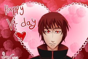 Valentines Day Art Trade- Sasori by Dino-blankey
