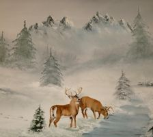Winter Whitetails by annieoakley64