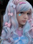 Ciara: Blended Pink and Blue by GothicLolitaWigs