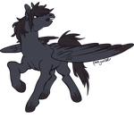 Commission: Black Pegasus by ponywise