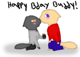 Happy bday to my character buddy by breebree223