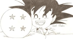 Dragon Ball_Kid Goku by bluepelt