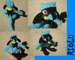Riolu Plush by Silverbirch