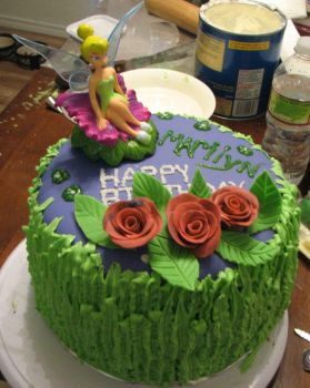 Tinkerbell Cake 1 by hsawaknow