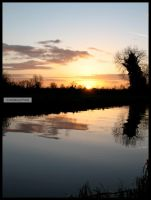 Irish Canal Sunset III by fluffyvolkswagen