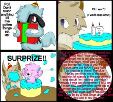 Mik And Pol Comic No 4 Birthdays by TheCoolyArtist