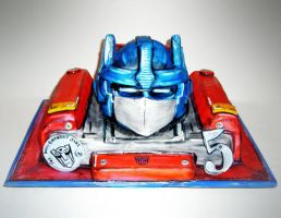 Transformers Cake by TiffsWickedCakes