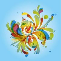 Abstract Colored Background Vector Art by freebiespsd