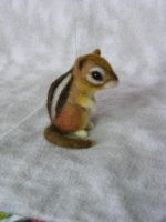 Needle Felted Chipmunk by CVDart1990
