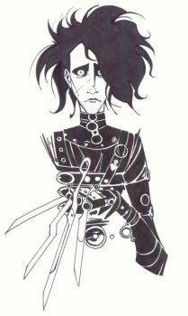 sketchy : Edward Scissorhands by KidNotorious