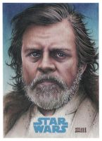 Luke Skywalker JtTFA Artist Proof Sketch Card by Erik-Maell