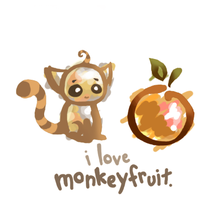the monkey and the fruit. by piperly-one
