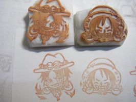 One Piece - rubber stamps by ahoko