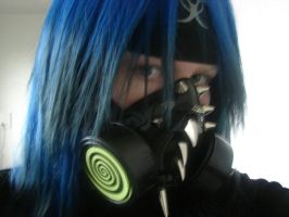 My Cyber goth Mask by Dark-Ace-XIII