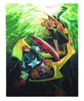 CAPAINT AMERICA vs. IRON FIST by EricCanete