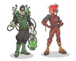 Green Lantern and The Flash by MurderousAutomaton