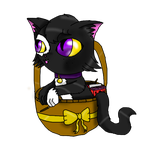 Kitten in a basket by LaLaLaNiceLady