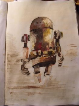 Take on Ashley Wood's robot by Sarahwildflower