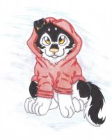 Puppy Shohei with hoodie by Little-Shohei