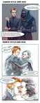 Kylo And Hux - Canon Vs Fanfic by nnaj