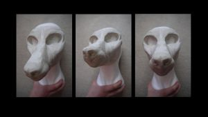 resin wolf head wip 3 by labradorpup2001
