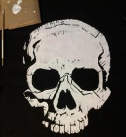 New ACIV-BF Skull Flag *Hand Painted Skull* by Morder-Productions