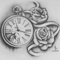 Pocketwatch and Roses by mmpninja