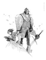 Game of Thrones - Arya Stark and The Hound by Ripplen