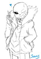 Sans Sketch by sonicfangirl666