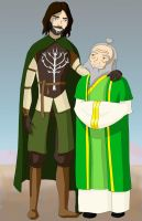 Faramir and Iroh by N00dleIncident