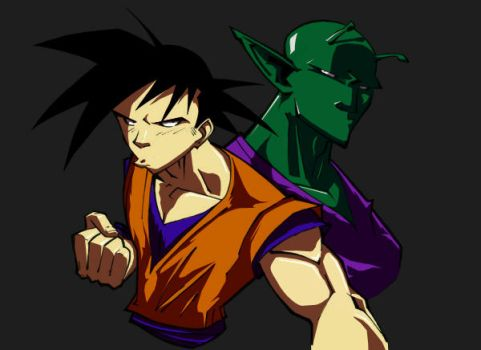 Goku and Piccolo by spade92