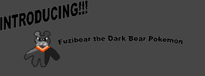 Fuzibear the Dark Bear Pokemon by supermatthewbros2010