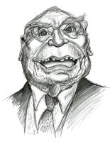 Ernest Borgnine by Caricature80