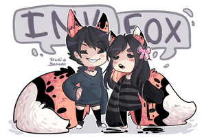 Ink foxes squad by Tsukibahara