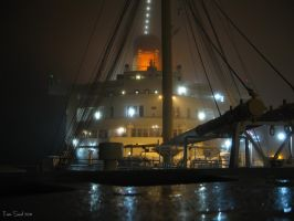 Queen Mary on a foggy night 1 by decophoto32